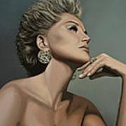Sharon Stone Poster by Paul Meijering