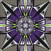Sharp Tile Art D Poster