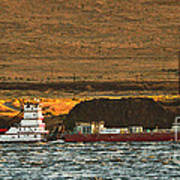 Shaver Tug On The Columbia River Poster