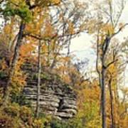 Shawee Bluff In Fall Poster