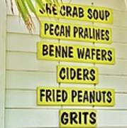 She Crab Soup And Fried Peanuts Poster