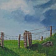 Sheep Field Poster