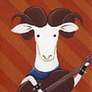 Sheep Guitar Poster by Christy Beckwith