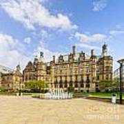 Sheffield Town Hall And Fountain Poster by Colin and Linda McKie