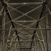 Shelby Street Bridge Details Nashville Poster