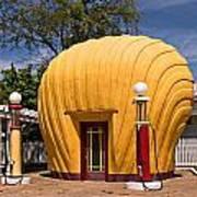 Shell-shaped Shell Station North Carolina Poster