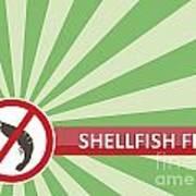 Shellfish Free Banner Poster