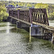 Shelton Derby Railroad Bridge Poster