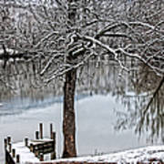 Shenandoah Winter Serenity Poster by Lara Ellis