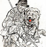 Shepherd With Dog Poster