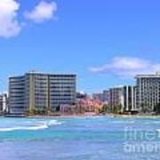 Sheraton And Royal Hawaiian View Poster