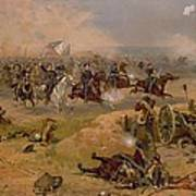 Sheridan's Final Charge At Winchester Poster by American School
