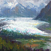 Shifting Light - Matanuska Glacier Poster