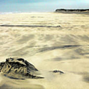 Shifting Sands On Ocracoke Outer Banks Poster by Dan Carmichael