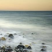 Shiny Rocks At The Sea Poster