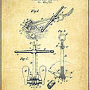 Ship Anchor Patent From 1892 - Vintage Poster
