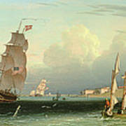 Ship Going Out, Fort Independence Poster