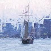 Ship Through The Haze Poster