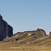 Shiprock Panorama - North West New Mexico Poster