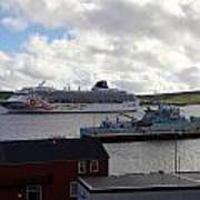 Ships In Lerwick Harbour Poster
