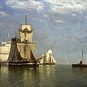 Ships Lying Off Flushing Poster
