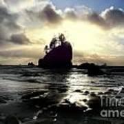 Shipwreck Rock Poster