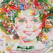 Shirley Temple - Watercolor Portrait.1 Poster