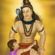 Shiva Family.  Poster
