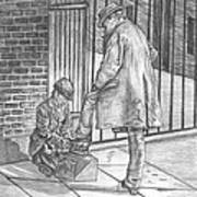 Shoe Shine Poster by Beverly Marshall