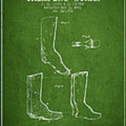 Shoes And Boots Crimping Board Patent From 1881 - Green Poster