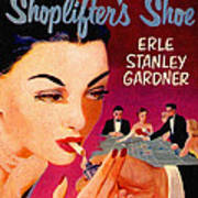 Shoplifter's Shoe. Vintage Pulp Fiction Paperback Poster