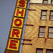 Shore Building Sign - Coney Island Poster