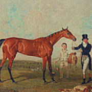 Shoveller Held By Her Trainer Will Chifney Poster by Benjamin Marshall