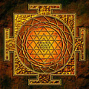 Shri Yantra Gold Lakshmi Poster by Lila Shravani
