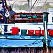 Shrimp Boat Buckets Poster