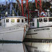 Shrimp Boats Reflecting Poster