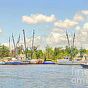Shrimp Boats In Georgetown Sc Poster