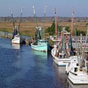Shrimp Boats Of Darien Poster