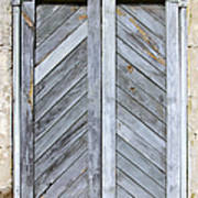 Weathered Wooden Shutters Poster