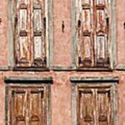 Four Wooden Shutters Poster
