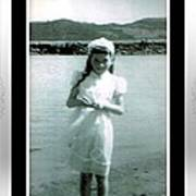Shy Girl With New Easter Dress Poster