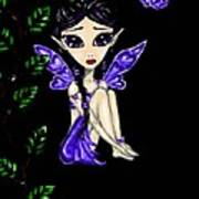 Shy Violet Fairy Poster