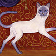 Siamese Cat Runner Poster
