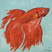 Siamese Fighting Fish Poster by Michael Creese