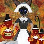 Siamese Queen Of Thanksgiving Poster by Jamie Frier