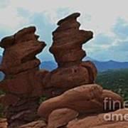 Siamese Twins Garden Of The Gods Colorado Poster
