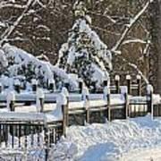 Side Cut Park Winter Wonderland Poster