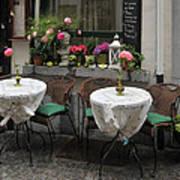 Sidewalk Cafe In Antwerp Poster