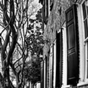 Sidewalk Scene-charleston Poster