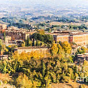 Siena Countryside Poster